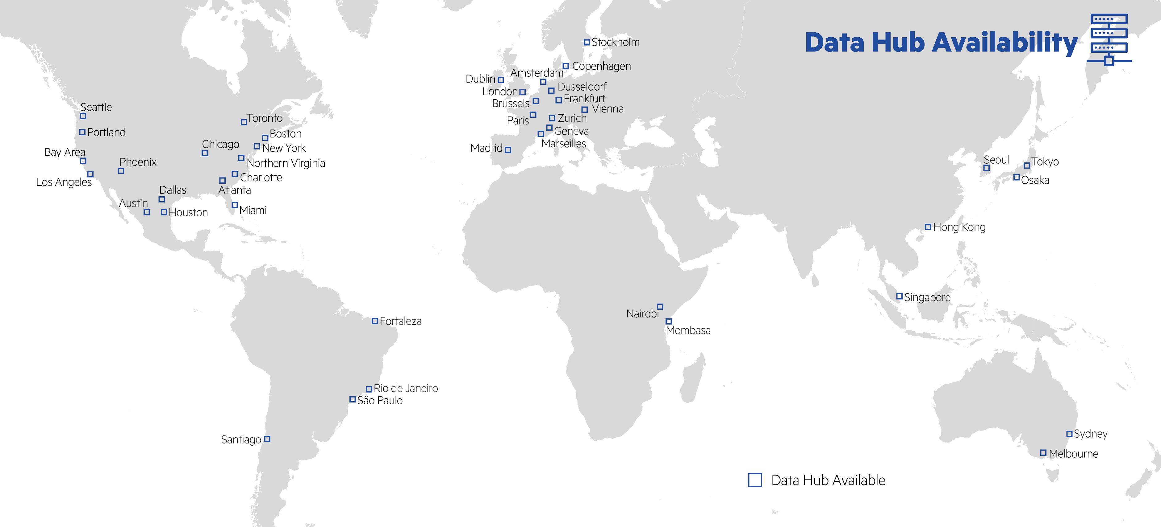 Data Hub Map