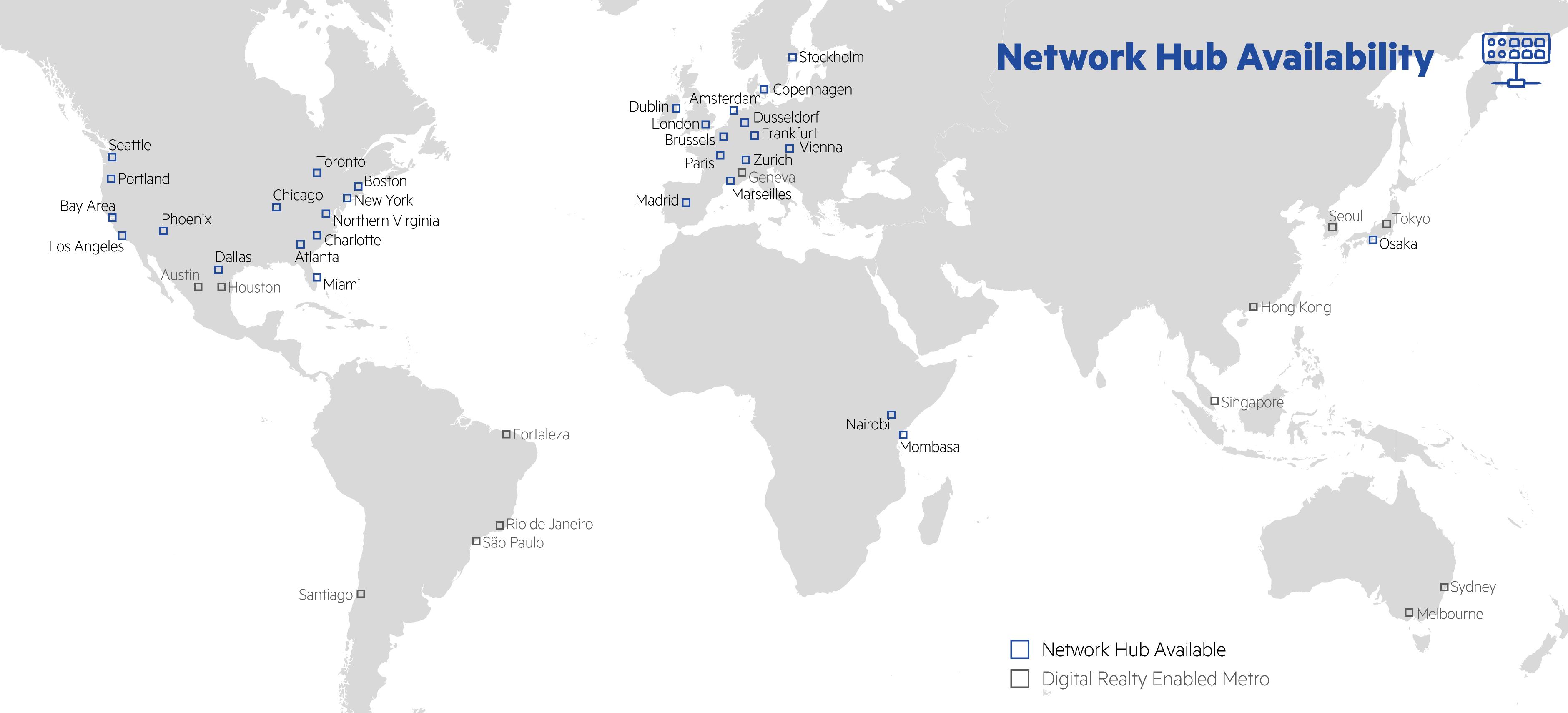 Network Hub Map